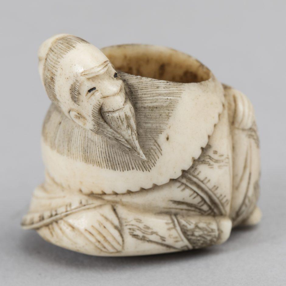 round Netsuke, ivory
