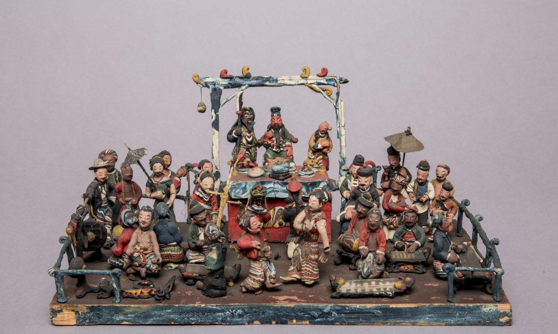 Modell einer chinesischen Hochzeitszeremonie auf Java