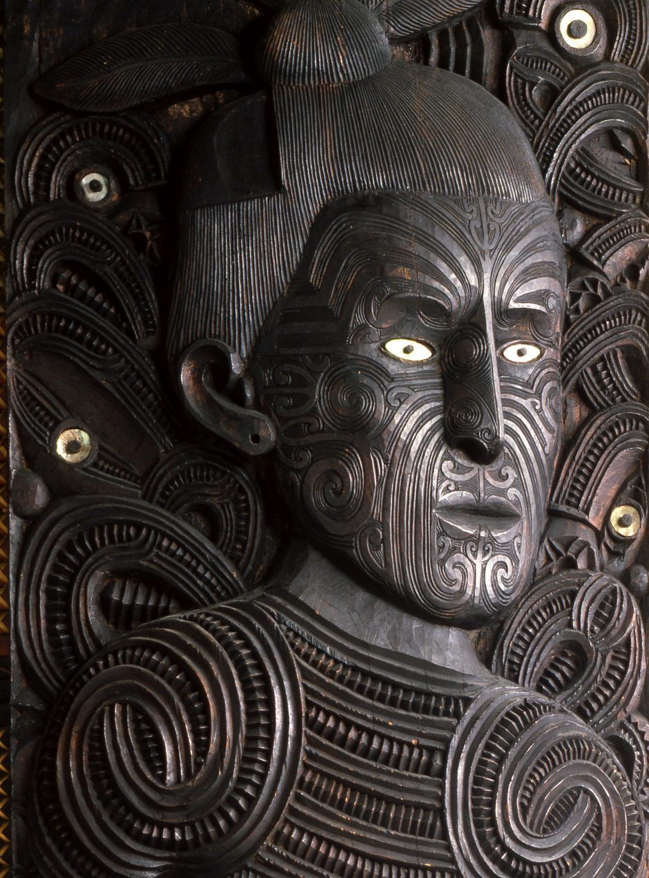 Face of the Maui, wood carving