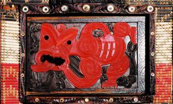 Detail Rauru Haus, rot