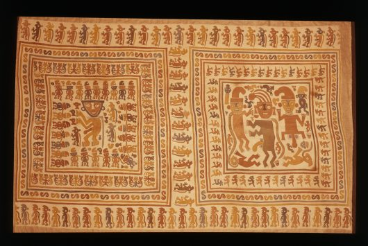 Painted wall hanging depicting prisoners, north or central coast of Peru