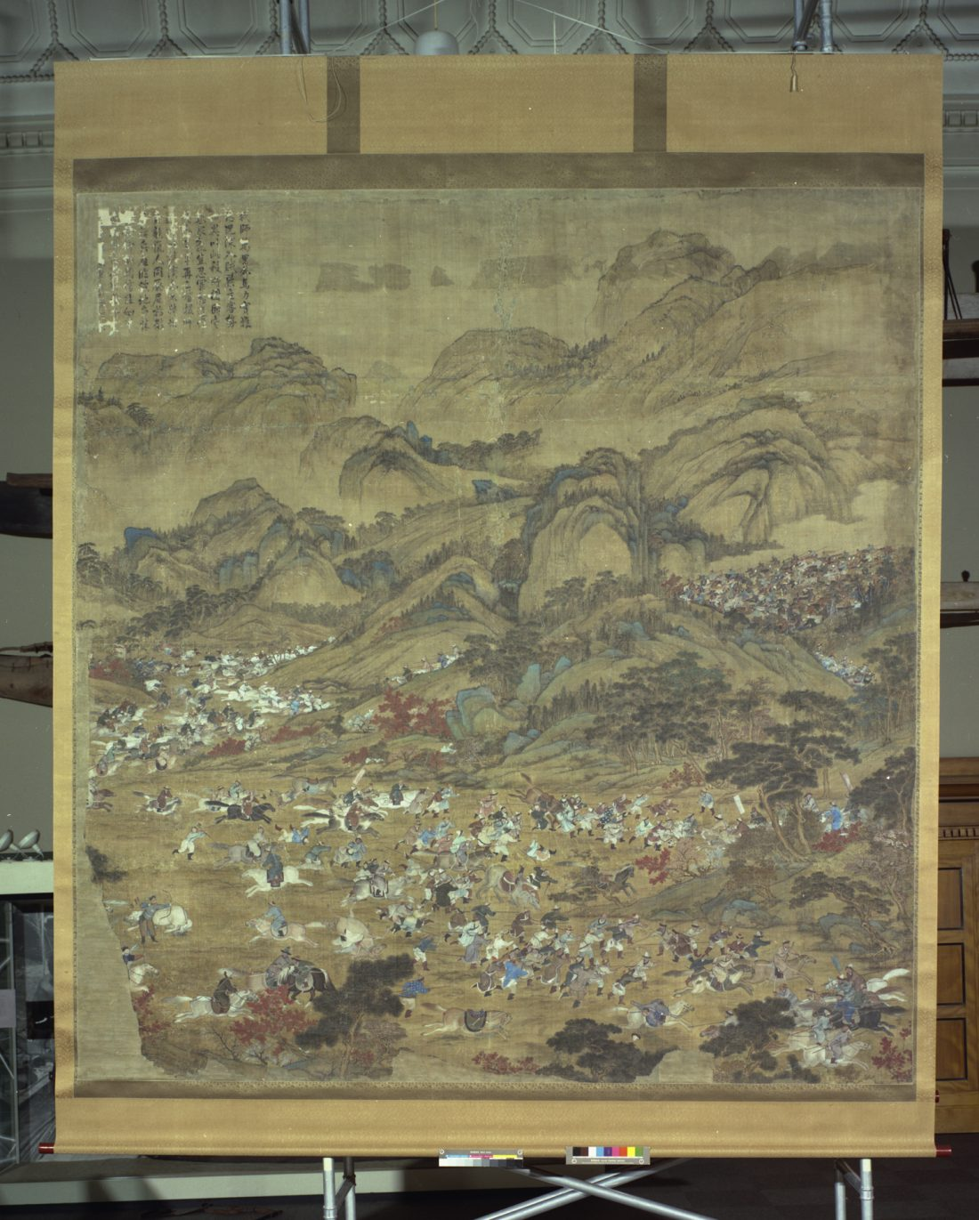 Depiction of a battle, painting