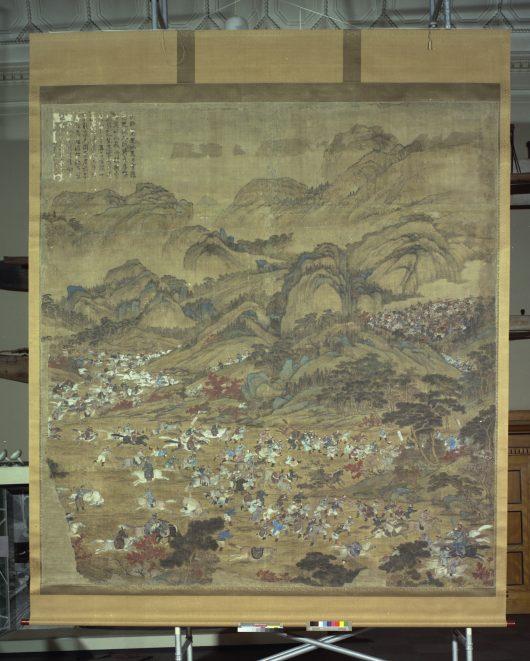 Darstellung einer Schlacht, Gemälde