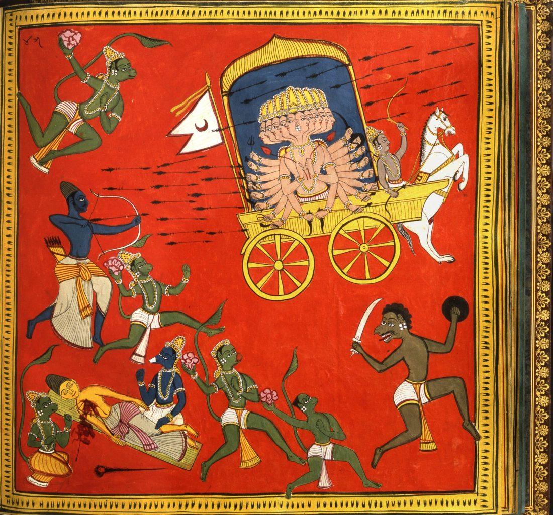 Nandigam Nagesam und Kamaroutu Venkatesam: Ramayana-Album aus Rajamundry, 1757