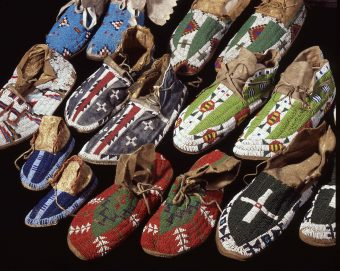 moccasins decorated with pearls Plains and Prairies