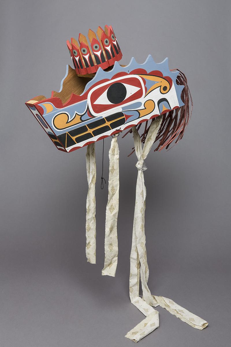 Wolfsmaske (Kopfaufsatz) mit drehbarer Krone, Calvin Hunt, Kanada, 2018