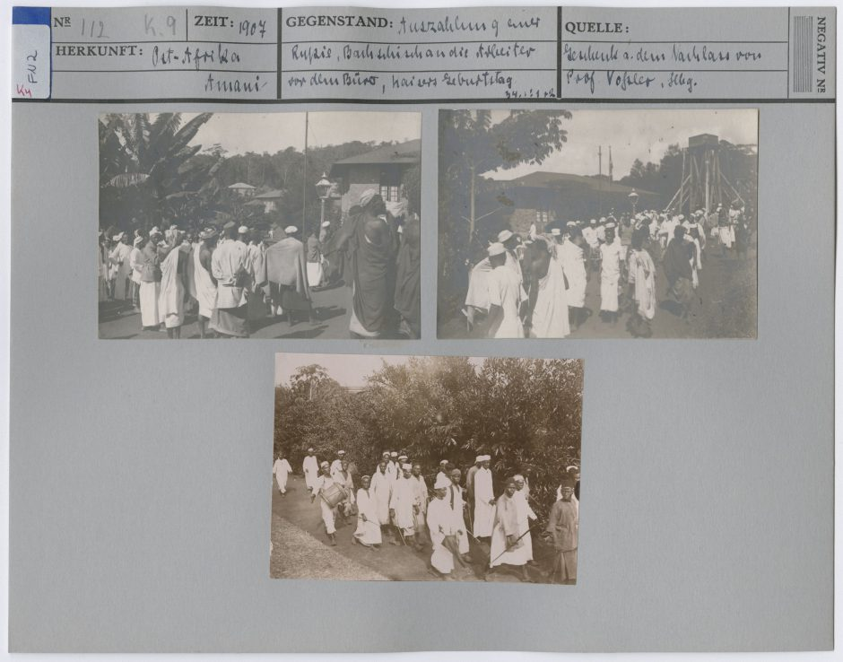 Image reference card with historical photographs from Amani
