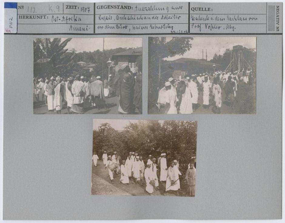 Ikonokarte mit historischen Fotografien aus Amani