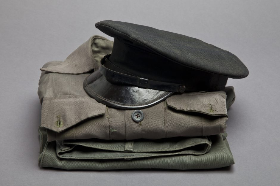 Uniform, cotton, synthetic fibre, ca. 1970
