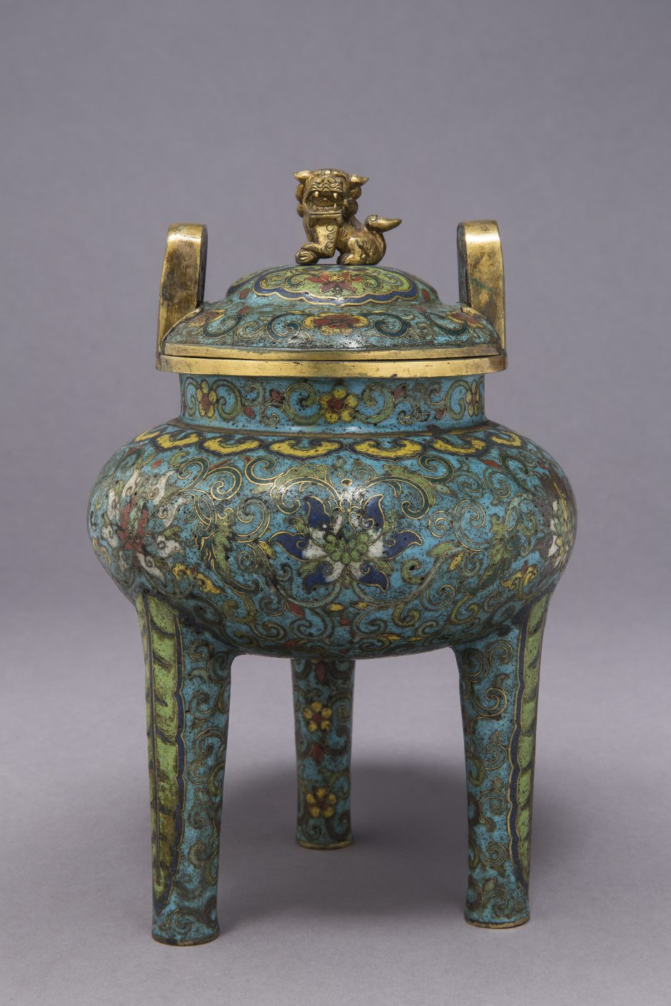 Unknown artist, incense burner, enamelled, 18th century
