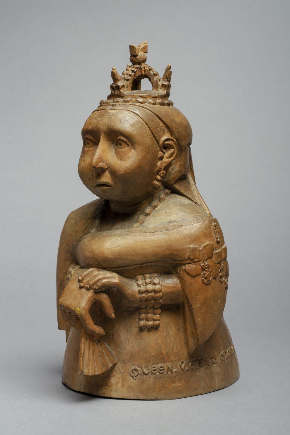 Female figure, wood, before 1904