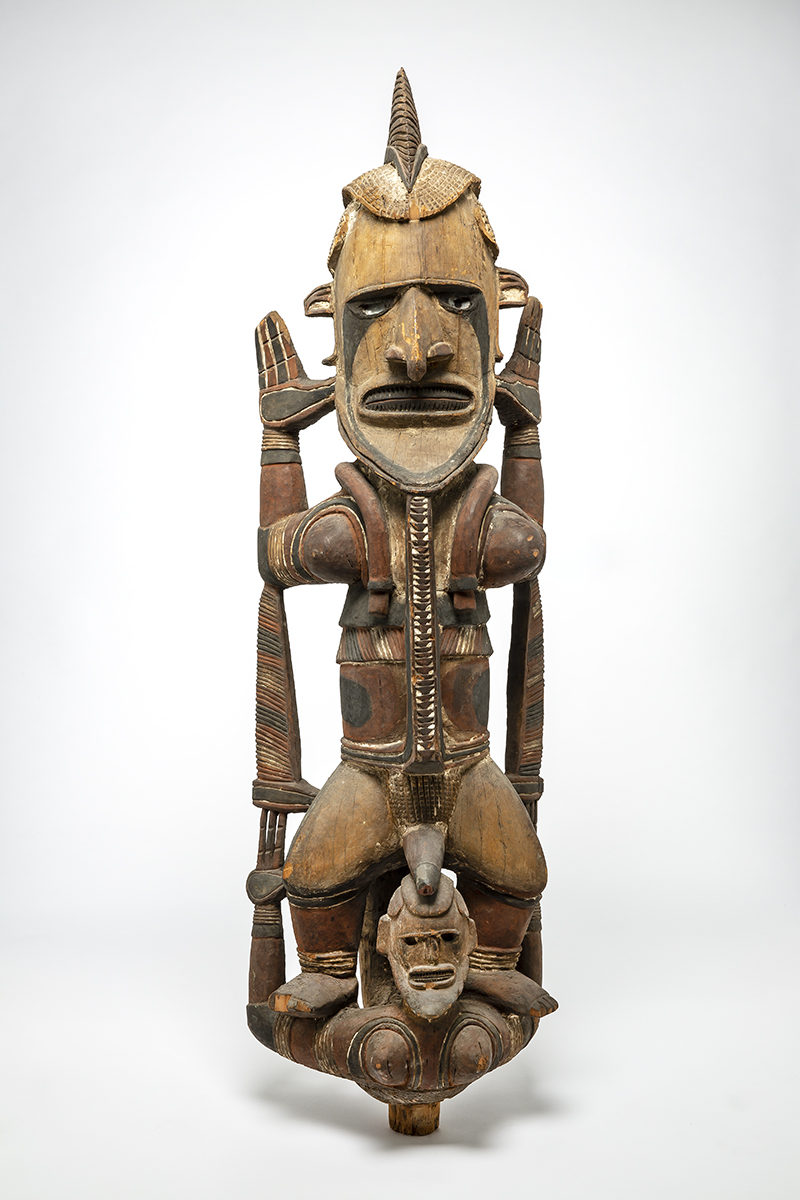 Standing figure, wood, colour, early 20th century
