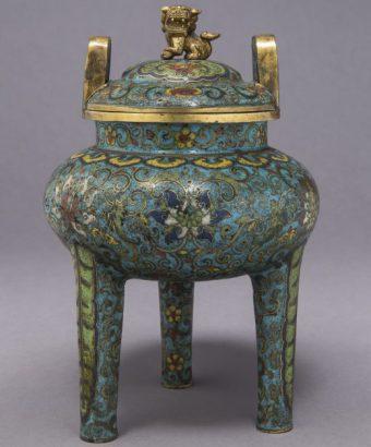 Incense burner, enamelled, 18th century