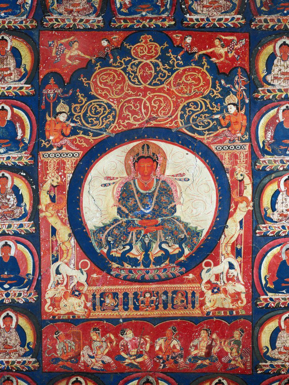 Wandmalerei Palast des Buddha Amitabha