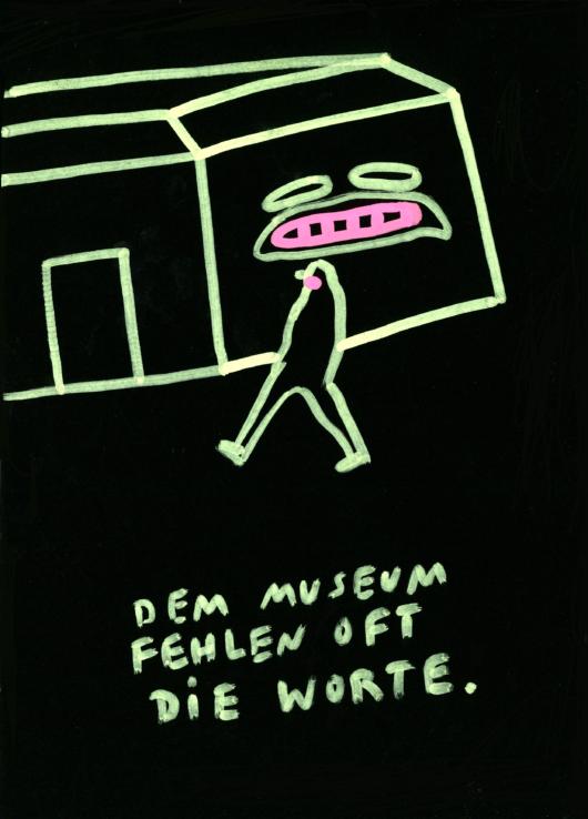 Illustration Dem Museum fehlen oft die Worte