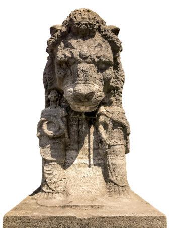 Löwenstatue vor dem MARKK