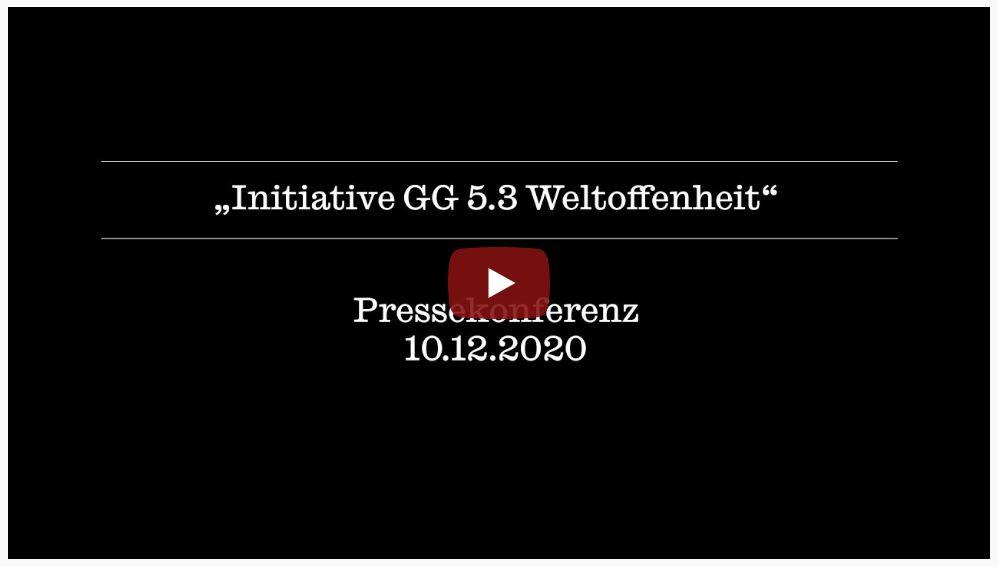 """Film zur Pressekonferenz """"Initiative GG 5.3"""""""