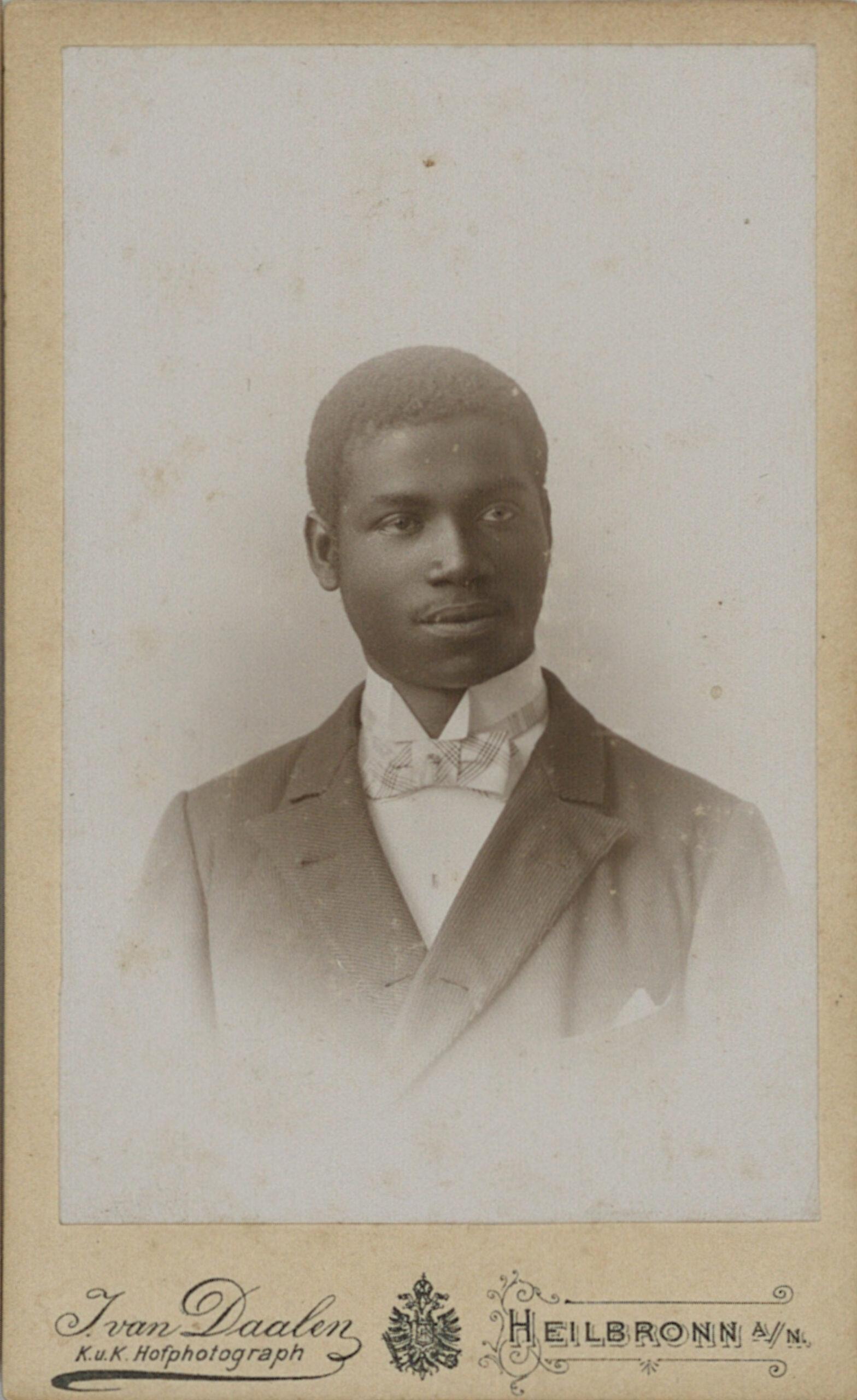 Porträt von Rudolf Duala Manga Bell, ca. 1892