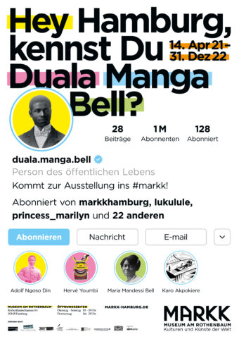 Plakatmotiv Hey Hamburg, kennst Du Duala Manga Bell?
