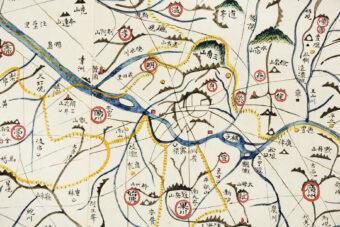 Karte des großen östlichen Königreichs, Korea, nach 1861