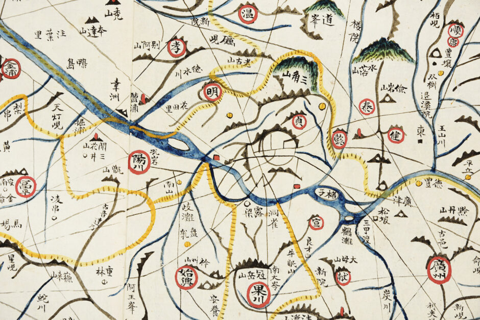 Map of the Great Eastern Kingdom - Daedong Yeojido, Kim Jeong-ho, Korea, after 1861